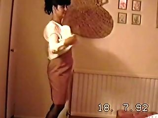 Retro Self Filmed Striptease From 1992