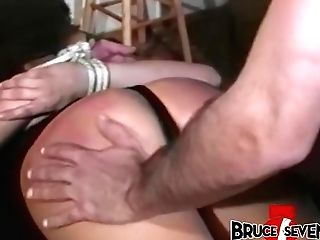 Tempting Girl/girl Careena Collins Predominated By Older Male Domination