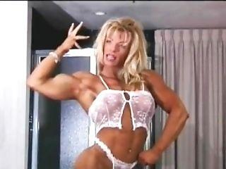 Muscle Beauty In Milky Undergarments