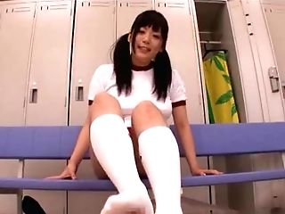 Ai Hoshimiya Insatiable Teenage With Big Tits Gives Footjob