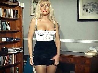 Erotic Stranger - Stocking Blonde De-robe Dance